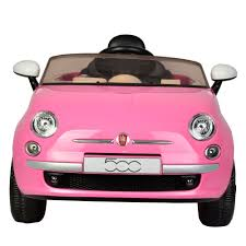 fiat 500 kids 6v fiat 500 ride on car in pink childrens electric car with