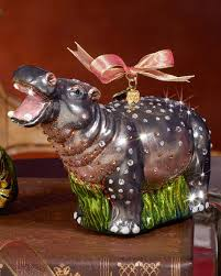 strongwater hippo ornament