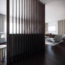 wood slat general wood slat room divider calming modern interiors
