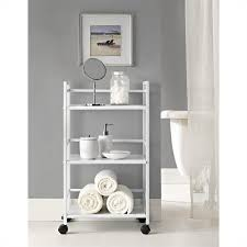 3 shelf metal rolling utility cart in white 7741096pcom