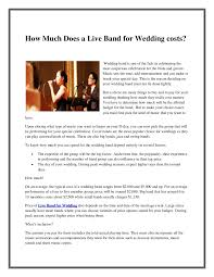 wedding band costs how much does a live band for wedding costs