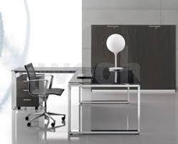 columbia mobilier de bureau bureau loopy verre blue petrol piètement alu prof 80 wooh store