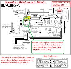 electrical installation converting a 120v balboa bp to 240v