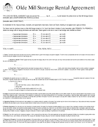 Commercial Lease Termination Agreement Rent To Own Storage Building Contracts Olde Mill Storage Rental