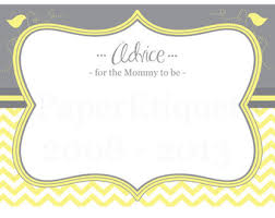 to be advice cards instant upload baby shower advice cards for the to