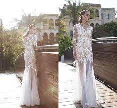 2016 vintage illusion bodice full lace wedding dresses long