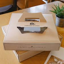 personalized pie boxes 2 x food boxes with trays kraft paper small or medium size