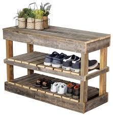 Shoe Rack by Barnwood Shoe Rack Farmhouse Shoe Storage By Hutson Designs