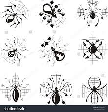 Decorative Spiders Vector Set Decorative Dingbats Spiders Stock Vector 129599648