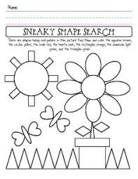 shape recognition worksheet shape search fishing for treasure worksheets math and themes