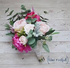 wedding flowers eucalyptus pink boho bouquet with eucalyptus silk bouquet wedding bouquet