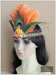 peacock headband samba feather headband women festival feather headband hippie