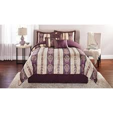 Duvet Comforter Set Mainstays Adelaide 7 Piece Damask Embroidered Bedding Comforter