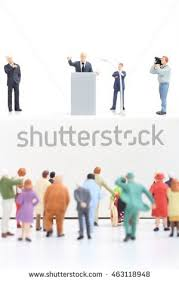 royalty free miniature figurines of a politician 462886417 stock