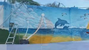 beach scene mural youtube beach scene mural