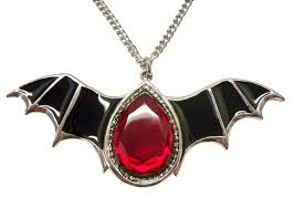 red gothic necklace images Gothic black epoxy wings and blood stone pewter necklace nk500 JPG