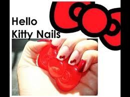 hello kitty glitter bow french tip nail design new nail club for