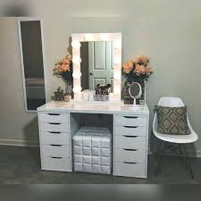Table Vanity Mirror Make Up Vanity Table Vanity Make Up Tables Makeup Vanity Bathroom