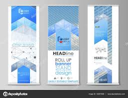 Geometric Flag Roll Up Banner Stands Geometric Design Templates Business