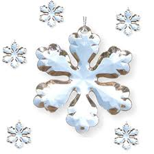 clear acrylic snowflake ornament set pack of 6