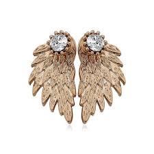 angel wing earrings 3d diamond alloy angel wing earrings for 1 16 online