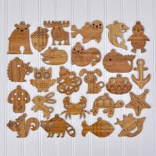 animal ornaments bamboo set of 2 graphic spaces