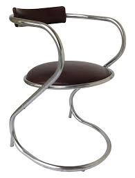 mid century chrome cantilever office chair chairish