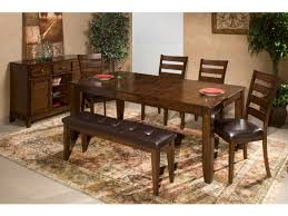 craft designs dining room kona dining table with 4 chairs bench free