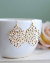 dangler earings large gold filigree earrings boho chic bohemian filigree