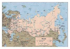 european russia map cities large political map of russia with roads railroads and major