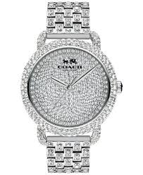 crystal bracelet watches images Coach womens crystal accent stainless steel bracelet watch 36mm tif