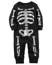 halloween skeleton images baby boy halloween skeleton jumpsuit carters com