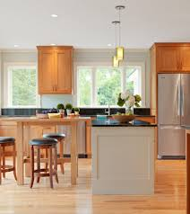 kitchen with light oak cabinets dallas natural oak cabinets kitchen modern with wood flooring