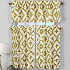 yellow kitchen curtains for window jcpenney