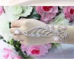 bridal bracelet with ring images Christmas snowflower silver color bracelet connected ring jpg