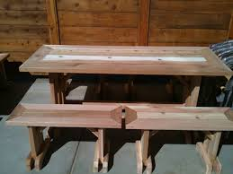 picnic table rentals signature table with benches pds woodwork picnic table rentals