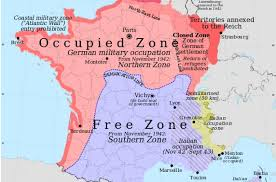 Map Southern France by B01 Modern Map Of France After The Invasion 1940 Ehri Online