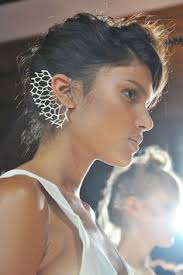 womens short hairstyles to hide hearing aids artist inspired by her grandmother redefines disability hearing