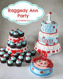 raggedy ann party raggedy ann cake smash cake u0026 cupcakes rose
