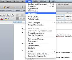 faq how to i change the default language in word for mac word