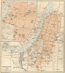 Calcutta India Map by