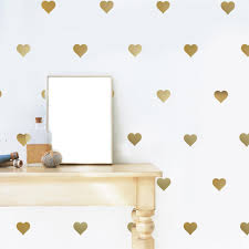 nursery decals wall dressed up 64 gold metallic heart vinyl wall decals wall dressed up 1