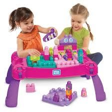 mega bloks first builders table mega bloks mega first builders build n learn pink table null