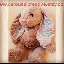 personalized easter bunnies personalized easter bunny embroidered bunny easter gift bunny