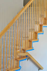 Banister Rail And Spindles How To Paint Stairwells My Frugal Adventures