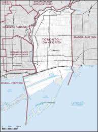 Map Toronto Canada by Toronto U2013danforth Maps Corner Elections Canada Online