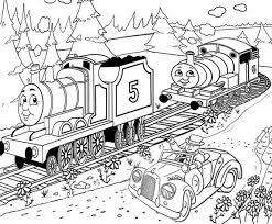 printable thomas train coloring pages kids cartoon coloring