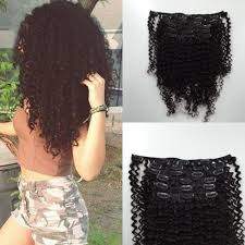 Mongolian Curly Hair Extensions by 8a Mongolian Curl Hair Clip In Hair Extension Afro