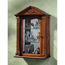 Exclusive Kitchens By Design Amazon Com Glass Curio Cabinets Essex Hall Wall Mounted Curio