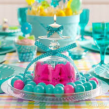 Pretty Easter Table Decorations upside down glass candle holder peeps u003d pretty easter